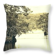 Louisiana Chicot State Park  Throw Pillow