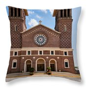 Louisiana Church Throw Pillow