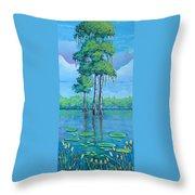 Louisiana Cypress Throw Pillow