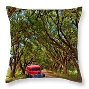 Louisiana Dream Drive  Throw Pillow