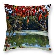 Louisiana Fall Throw Pillow