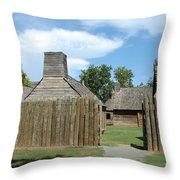 Louisiana Fort Throw Pillow