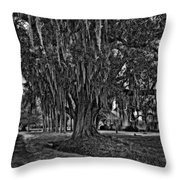 Louisiana Moon Rising Monochrome  Throw Pillow