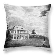 Louisiana Planter's Home Throw Pillow