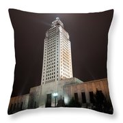 Louisiana State Capitol Building Throw Pillow