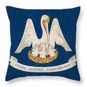 Louisiana State Flag Throw Pillow