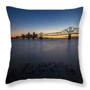 Louisville Skyline At Dusk Throw Pillow