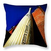 Louisville Slugger Bat Factory Museum Throw Pillow