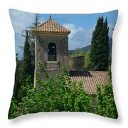 Lourmarin Castle In Provence Throw Pillow