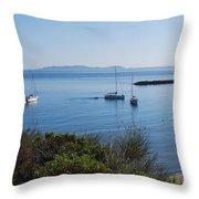 Loutsi Bay 5 Throw Pillow