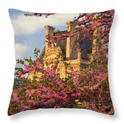 Louvre Blossoms Throw Pillow