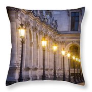 Louvre Lampposts Throw Pillow