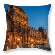 Louvre Sunset Throw Pillow