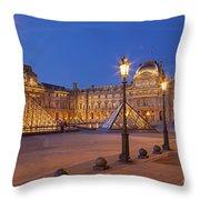 Louvre Twilight Throw Pillow
