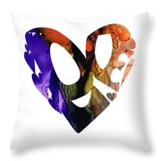 Love 1 - Heart Hearts Romantic Art Throw Pillow