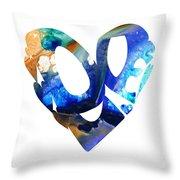 Love 4 - Heart Hearts Romantic Art Throw Pillow