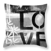 Love- Abstract Painting Throw Pillow by Linda Woods
