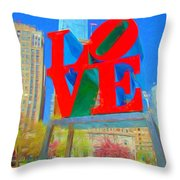 Love And Cherry Blossoms Throw Pillow