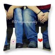 Love And Denim Throw Pillow