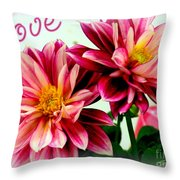 Love And Flowers Throw Pillow by Kathy  White