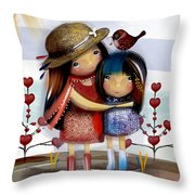 Love And Friendship  Throw Pillow by Karin Taylor