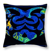 Love And Light Sharing Space Abstract Shapes And Symbols Artwork Throw Pillow