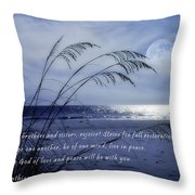 Love And Peace Be With You Throw Pillow