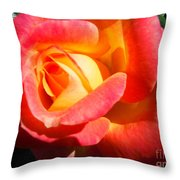 Love And Peace Rose Throw Pillow