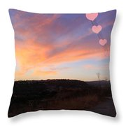 Love And Sunset Throw Pillow