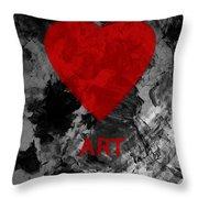 Love Art 1 Throw Pillow