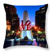 Love At Night Throw Pillow