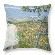 Love At The Fountain Of Life Or Lovers At The Sources Of Life Throw Pillow