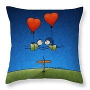 Love Beyond Boundaries Throw Pillow by Gianfranco Weiss