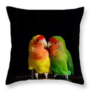 Love Birds At First Sight Throw Pillow