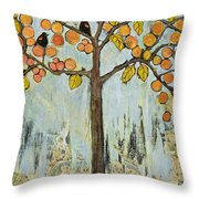 Love Birds In Paris Throw Pillow