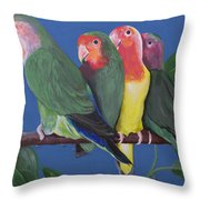 Love Birds Throw Pillow by Kathy Weidner