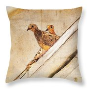 Love Birds On My Balcony Throw Pillow