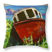 Love Boat Throw Pillow