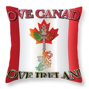 Love Canada Love Ireland16in Throw Pillow