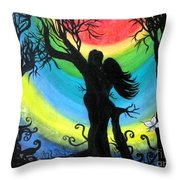 Love Energy Throw Pillow