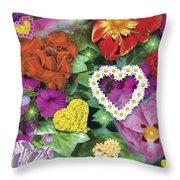 Love Flowers Garden Throw Pillow