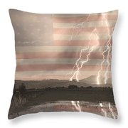 Love For Country Throw Pillow