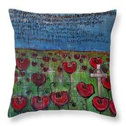 Love For Flanders Fields Poppies Throw Pillow