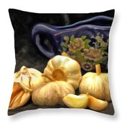 Love For Garlic Throw Pillow