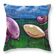 Love For Little Birds Throw Pillow