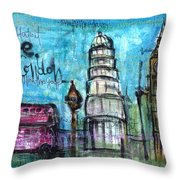 Love For London Throw Pillow