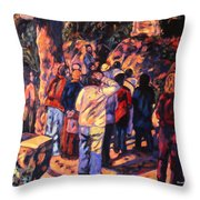 Love Gardens In Coimbra University Throw Pillow
