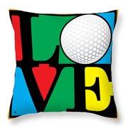 Love Golf Throw Pillow