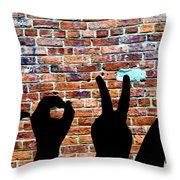 Love Hands Throw Pillow