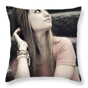 Love Here Throw Pillow